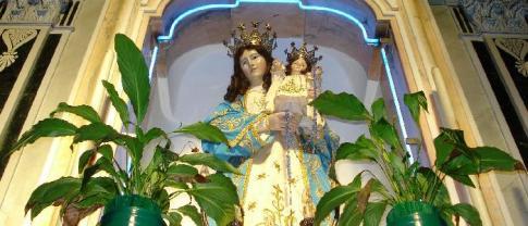 33 -Fasano. Chiesa Maria S.S. Rosario, dettaglio della Madonna col Bambino.