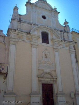 53 -Fasano. Corso Vittorio Emanuele la Chiesa del Purgatorio, facciata anteriore della chiesa