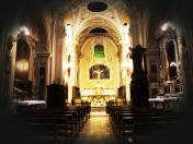 54 - Fasano. Chiesa del Purgatorio interno. Di particolare bellezza e valore è l'altare maggiore in marmi commessi, opera degli artisti napoletani Carlo e Vincenzo Ferrara