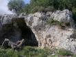 124 - Grotta con incisione della croce greca sulla parte sinistra