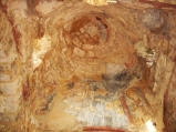 85 -Fasano. Tempietto di Seppannibale - interno,particolare degli affreschi.