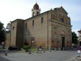 74 - Chiesa di Santa Reparata a costruzione della chiesa è più recente rispetto alla fondazione della cittadina. Edificata nel 1592, venne benedetta solo nel 1609 Il campanile fu ultimato solo nel periodo 1821-1825.Assunse il nome di un'antica chiesa Bizantina posta nei pressi di Castrocaro in via Biondina.