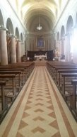 34 - Forlimpopoli Chiesa di San Ruffillo, L'interno è diviso in tre navate: in fondo a quella centrale è posizionata la cassa-reliquiario contenente le spoglie del Santo. Nel presbiterio è posta l'antica cattedra vescovile, mentre nell'abside si trova un coro in legno di noce del XVIII secolo.