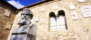 33 -Bertinoro Pieve di San Donato in Polenta. Polenta. Giosuè Carducci, dettaglio.