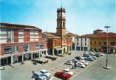 7 -Forlimpopoli - Piazza_Garibaldi_-Palazzo della Torre dell'Orologio. secc. XIV-XIX. Chiesa dei Servi