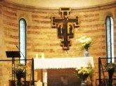 37 -Bertinoro Pieve di Polenta interno della chiesa. Crocifisso ligneo.