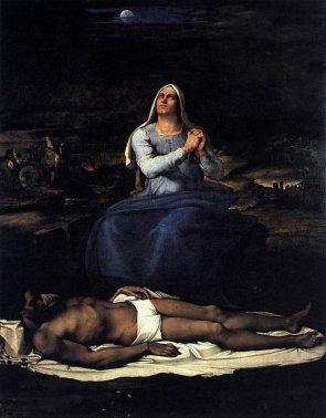128 -Viterbo - Interno al Museo. Sebastiano_del_piombo,_pietà