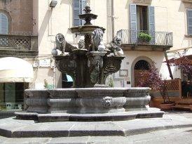 94 -Viterbo -La Fontana dei Leoni in piazza delle Erbe particolare.