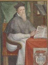 35 -Egidio da Viterbo, part. di affresco, Sala Regia, Palazzo de Priori