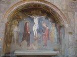 102 -Viterbo -Chiesa di Santa Maria Nuova, interno. Nella navata sinistra si ammira la Crocifissione di Matteo Giovannetti,