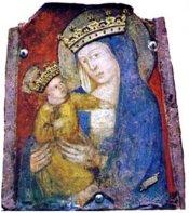 132 -Viterbo -Basilica Santuario Santa Maria della Quercia interno Madonna della Quercia.