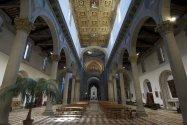 130 -Viterbo -Basilica Santuario Santa Maria della Quercia interno - le tre navate-