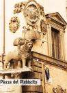 57 -Viterbo. Piazza del Plebiscito. Uno dei due Leoni.