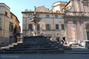 92 -Viterbo. Piazza Fontana Grande. Particolare della fontana.