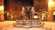 95 -Viterbo - Piazza delle Erbe - Fontana di Santo Stefano o di Piazza delle Erbe di sera.