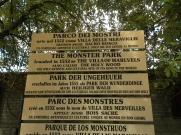 """20 -Bomarzo -Il Parco dei Mostri o sacro Bosco a Bomarzo è un complesso monumentale situato alle pendici di un vero e proprio anfiteatro naturale. un giardino unico al mondo, voluto dal principe Orsini nel 1552. In un percorso esoterico e misterioso, ancora di difficile comprensione, è possibile ammirare le sculture orrende e grottesche, definite """"i mostri"""" che accompagnano il visitatore in un cammino tra mitologia e fantasia: la Tartaruga gigante, la Casa pendente, l'Orco, il Drago, sono solo alcune delle bizzarre creazioni realizzate con grossi blocchi di peperino, la pietra vulcanica del posto. Oggi il parco è di proprietà privata."""