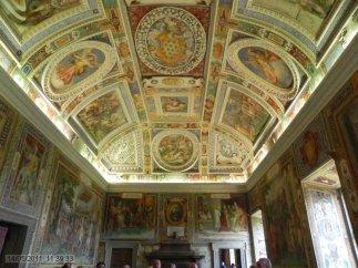 45 -Caprarola. palazzo Farnese. Sala dei Fasti Farnesiani soffitto