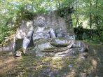35 -Bomarzo. Parco dei Mostri, Nettuno, dettaglio.