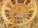 52 -Caprarola. palazzo Farnese. Soffitto della sala degli angeli. La Sala degli Angeli o dell'Eco dove si verificano particolari effetti sonori ed acustici.
