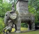 57 -Bomarzo. Parco dei Mostri, l'Elefante.
