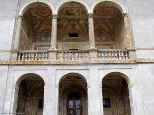 59 -Caprarola. palazzo Farnese, particolare della palazzina.