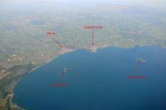 7 -Lago di Bolsena visto dall'aereo
