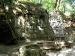 43 -Bomarzo. Parco dei Mostri dettagli.