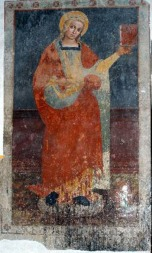 29 -Nella trecentesca Cappella del Santissimo Sacramento_affresco di S Cristina