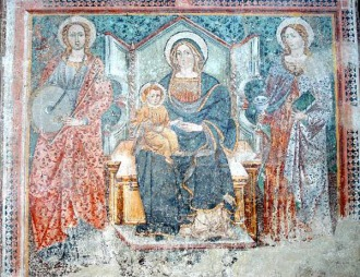 30 -Cappella di Santa Lucia, affresco