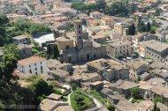 19 -Bolsena dall'alto con veduta della Basilica di Santa Cristina