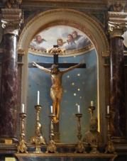 16 -Bagnoregio Civita chiesa san donato interno,crocifisso ligneo quattrocentesco della scuola di Donatello