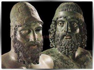 28 -Reggio Calabria. Museo Archeologico Nazionale. Bronzi Riace, dettaglio.