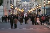 """39 -Reggio. La via oggi denominata """"Corso Garibaldi"""", centro dello shopping e della vita Reggina, ha origine dopo il sisma del 1783 quando il Governo borbonico attuò un generale piano di ricostruzione basato sui modelli illuministici. Oggi costeggiato dalla perfezione architettonica dei palazzi signorili e dalle ampie piazze."""