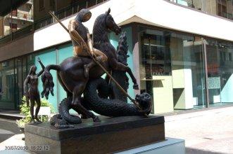 20 -Cosenza. Giorgio e il Drago, opera di Salvador Dalí, Museo Bilotti particolare.