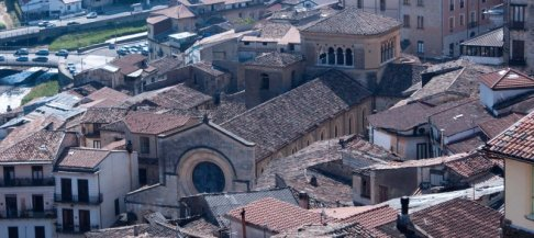 22 -Cosenza. Panorama sul Duomo o Cattedrale-