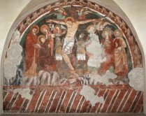 32 -Salerno Affresco Crocifissione, XIII secolo, Cripta della Chiesa del Santissimo Crocifisso.
