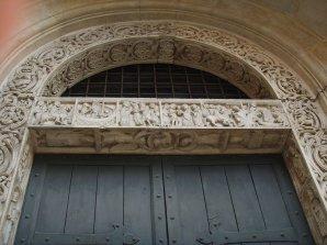 11 -Modena. La cattedrale. La Porta dei Principi dettagli