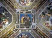 13 -Ferrara. Castello_estense,_int_,_sala_dell'aurora,_affreschi_di_ludovico_settevecchi_e_leonardo_da_brescia_(1574-75)_00