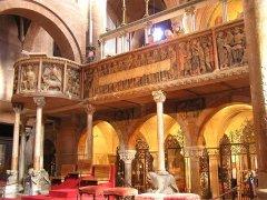 19 --Modena_Duomo_Pontile_CampioneseIl Pontile Campionese, con i simboli dei quattro Evangelisti e la rappresentazione dell'Ultima Cena