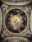 32 -Parma - Abbazia di S. Giovanni Evangelista. La grande cupola fu dipinta dal Correggio nel 1520, anticipando quella del Duomo che lo stesso Correggio eseguì dal 1526. Rappresenta la Visione di san Giovanni, con l'aposto che vede spalancarsi i cieli e comparire uno sfolgorante Cristo, che gli indica il suo posto nella cerchia degli apostoli.