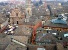 3 -Reggio Emilia, panorama sulla piazza San Prospero e la Basilica San Prospero.