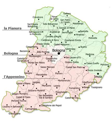 Provincia di Bologna capoluogo di regione