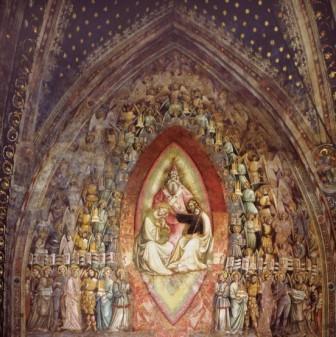 26 -Bologna, Basilica di San Petronio. Giovanni da Modena, Cappella Bolognini, part.,