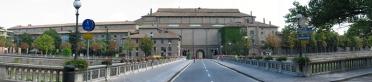 20 -Vista panoramica dal termine del ponte Verdi ingresso del Palazzo della Pilotta.