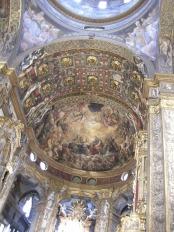 26 -Parma. La basilica magistrale di Santa Maria della Steccata. Volta interna con le Tre vergini savie e tre vergini stolte del Parmigianino