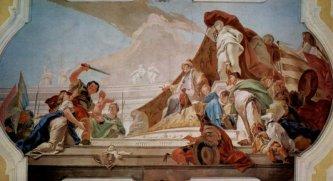 45 -Udine, particolare dipinto Giovanni Battista Tiepolo-