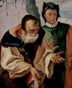 46 -Udine. Museo Diocesano e Gallerie del Tiepolo, Affresco, particolare di una scena biblica, Giacobbe