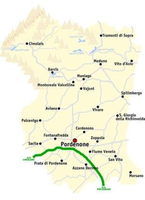 -Pordenone mappa