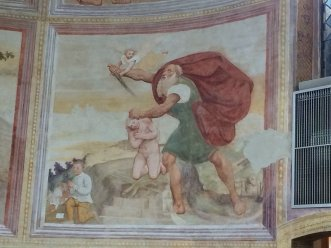 22 -Pordenone Santa Trinità interno di Giovanni Maria Zaffoni, Sacrificio di Isacco -