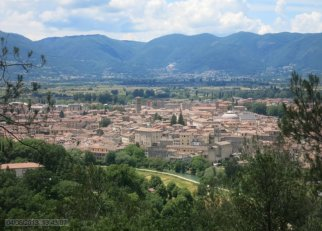 1 -Panorama del centro storico di Rieti visto da Colle San Mauro